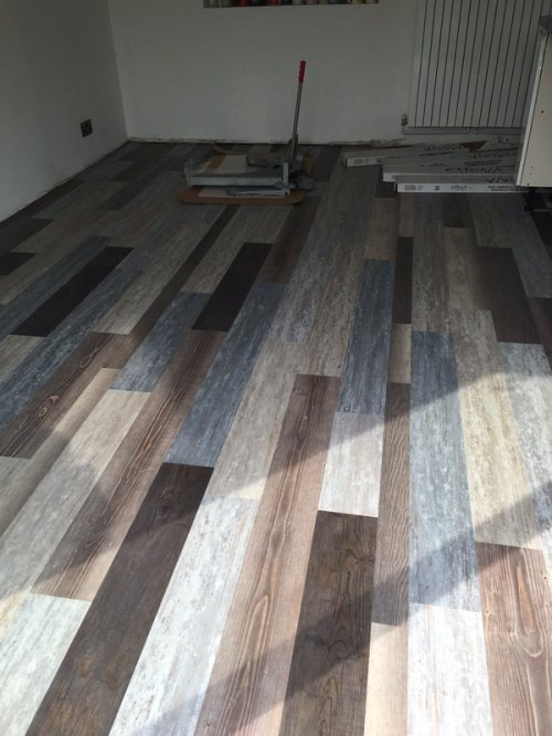 Featherby Flooring, Expona Commercial Blue Recycled Wood