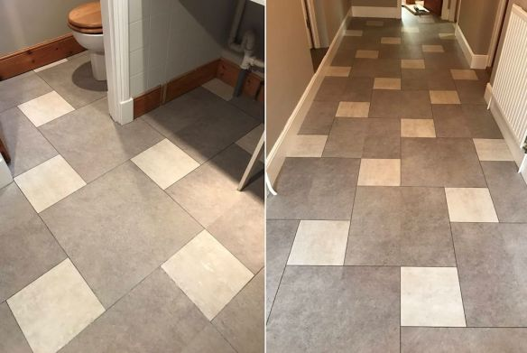 Camaro Burnished Concrete and White Metalstone, Norfolk Flooring