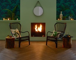Curl up by the fire on our cosy Camaro 2220 Vintage Timber
